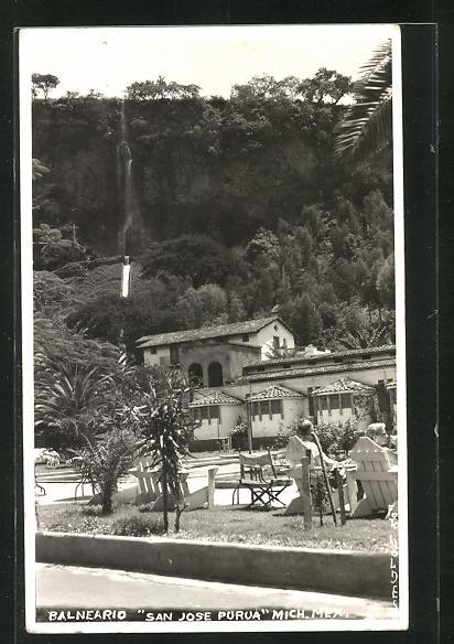AK Balneario, San Jose Purua, Blick auf Wasserfall