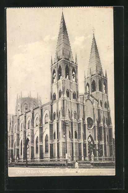AK Manila, San Sebastian Church, Kirche