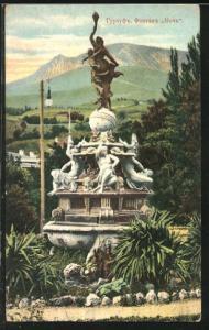 AK Gursuf, Ansicht eines Denkmals