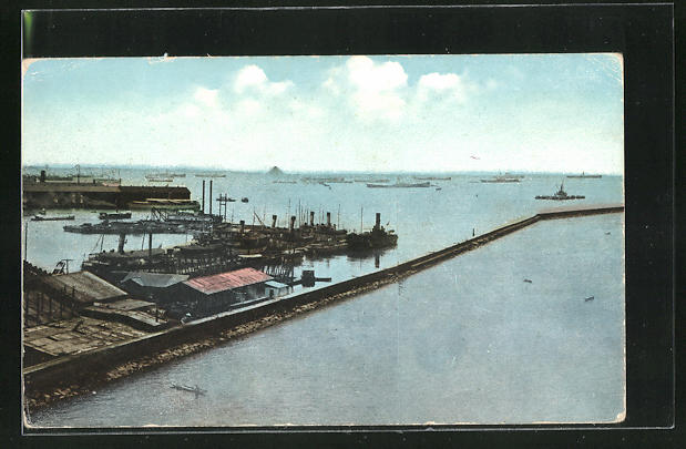 AK Manila, A View of Manila Harbour, Showing Breakwater