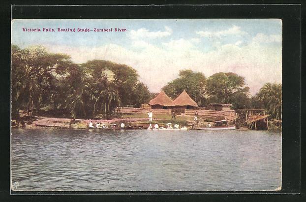 AK Simbabwe, Victoria Falls, Boating Stage, Zambesi River