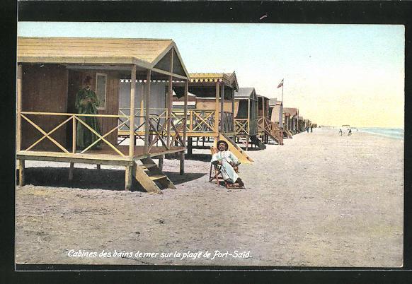 AK Port-Said, Cabines des bains de mer sur la plage