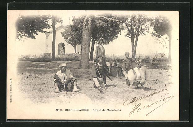 AK Sidi-Bel-Abbes, Types de Marocains