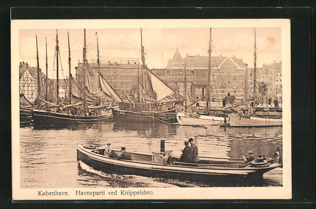 AK Kobenhavn, Havneparti ved Knippelsbro