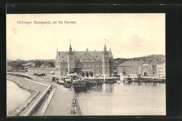 AK Helsingor Banegaard, Set fra Havnen