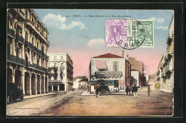 AK Oran, La Rue d`Arzew et la Rue Miranchaux