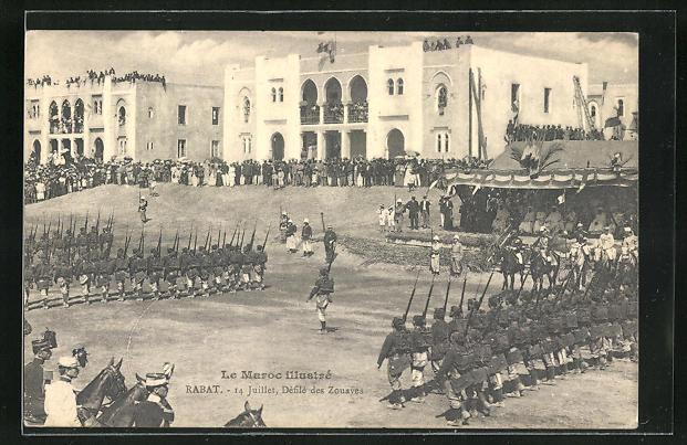 AK Rabat, Defile des Zouaves