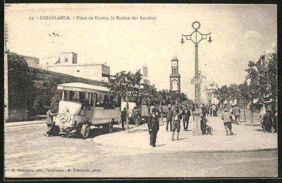 AK Casablanca, Place de France, la Station des Autobus