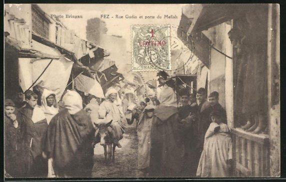 AK FEZ, Rue Gadia et porte du Mellah