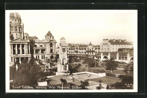 AK Durban, Town Gardens, showing War Memorial