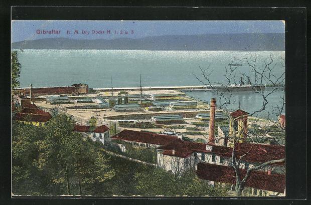 AK Gibraltar, H. M. Dry Docks N. 1, 2 u. 3