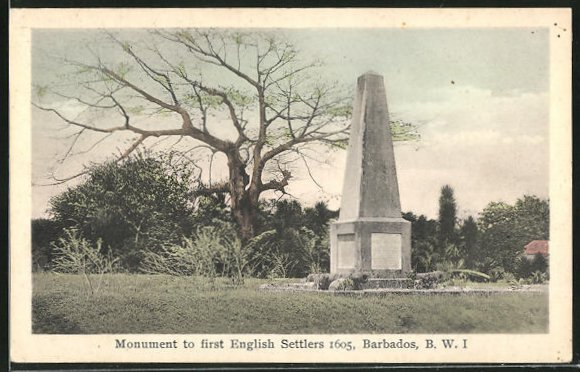 AK Barbados, Monument to first English Settlers 1605