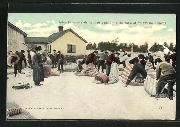 AK Petawawa, Alien Prisoners airing their bedding in the snow