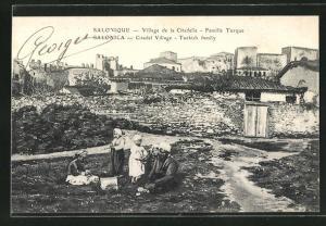 AK Salonica, Citadel Village - Turkish family
