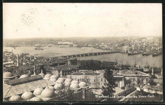 AK Stamboul, La Corne d`Or auf Vieux Pont