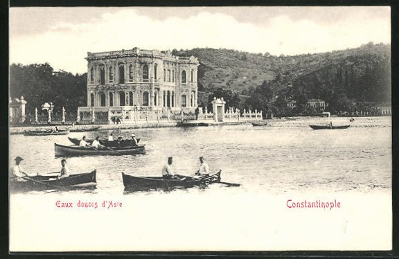 AK Constantinople, Eaux douces d`Asie