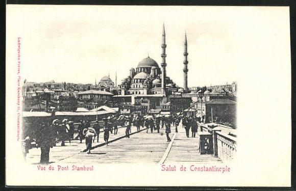 AK Constantinople, Vue du Pont Stamboul