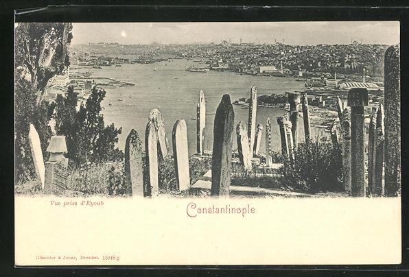 AK Constantinople, Vue prise d`Eyoub