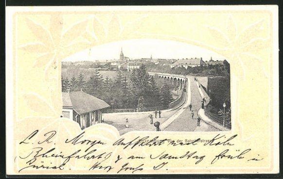AK Luxemburg, Teilansicht von der Bahnhofstrasse