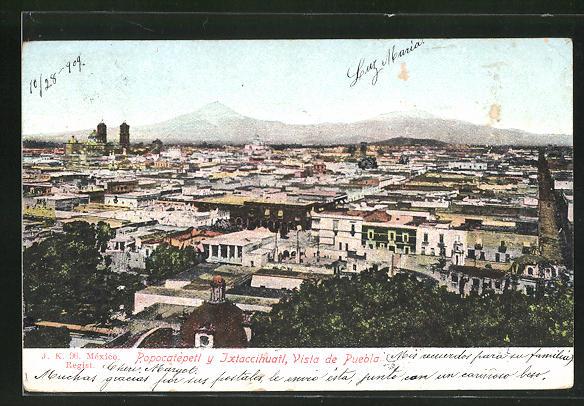AK Jxtaccihuatl, Vista de Puebla