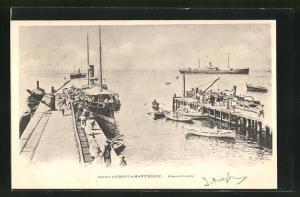 AK Saint-Pierre-la-Martinique, Appontements, Hafen