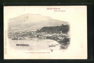 AK Saint-Pierre, La Rade et la Montagne Pelée