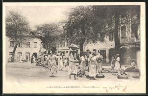 AK Saint-Pierre-la-Martinique, Place du Marché