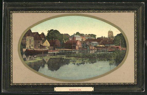Passepartout-AK Beccles, Panorama