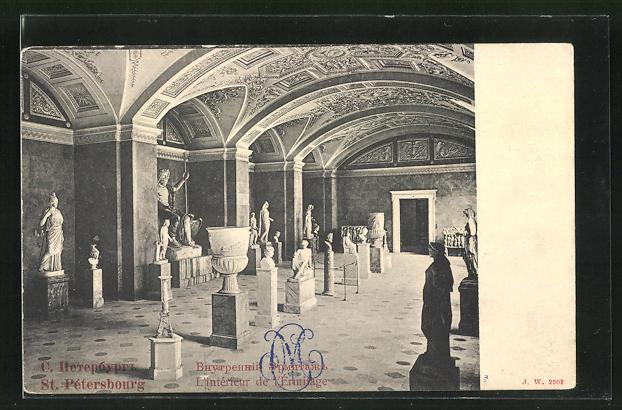 AK St. Petersbourg, L`interieur de l`Ermitage