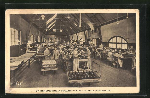AK Fecamp, La Benedictine, La Salle d`Etiquetage, Innenansicht