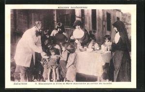 AK Equateur, Missions Salesiennes, Missionaire et Filles de Marie-Auxiliatrice au service des malades