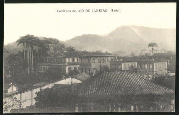 AK Rio de Janeiro, Blick über die Häuser einer Wohnsiedlung
