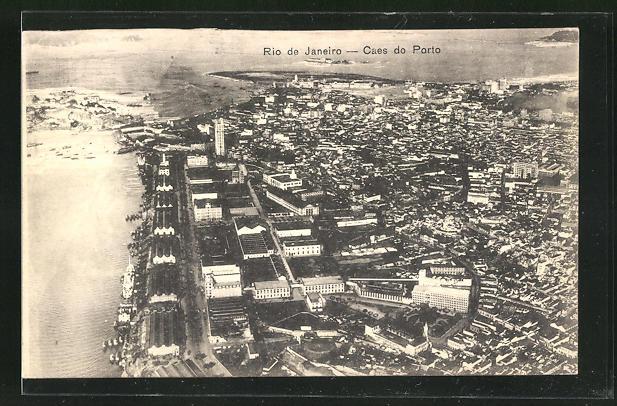 AK Rio de Janeiro, Caes do Porto, Fliegeraufnahme