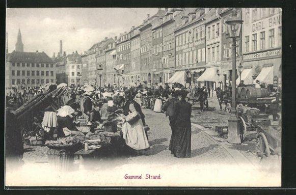 AK Kopenhagen, Gammel Strand, Markttag