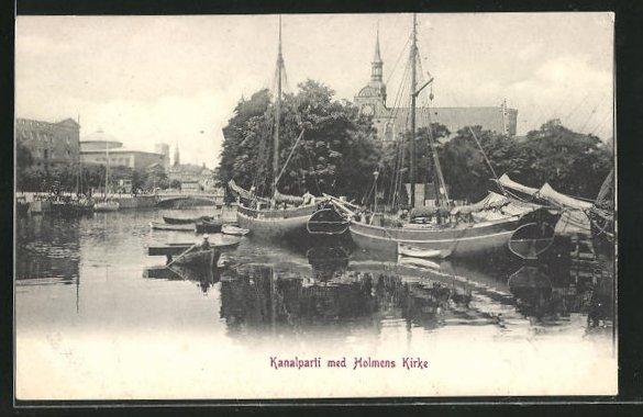 AK Kopenhagen, Kanalparti med Holmens Kirke