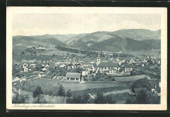 AK Kindberg i. Mürztale, Panoramablick auf die Ortschaft