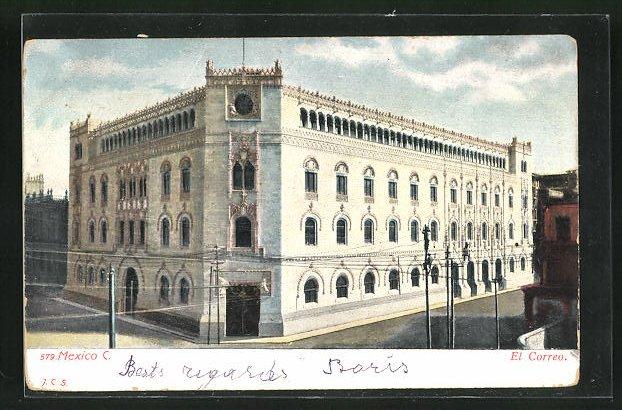 AK Mexico-City, El Correo, Postamt