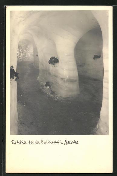 AK Zillertal, Eishöhle bei der Berlinerhütte