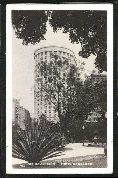 AK Rio de Janeiro, Ansicht vom Hotel Serrador