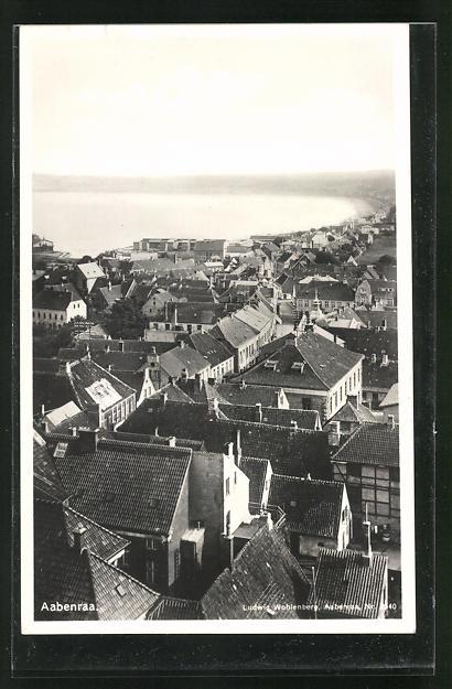 AK Aabenraa, Blick über die Dächer der Ortschaft 0