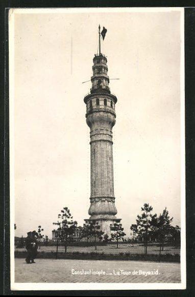 AK Constantinople, La Tour de Bayazid 0