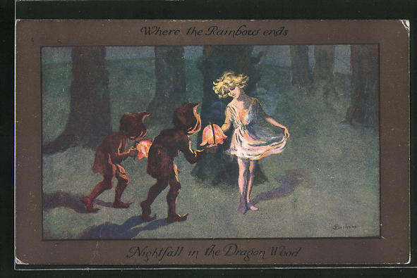 Künstler-AK S. Barham: Nightfall in the Dragon Wood 0