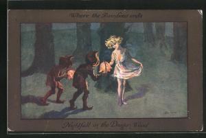 Künstler-AK S. Barham: Nightfall in the Dragon Wood
