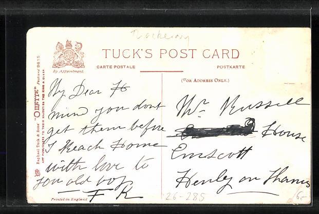 Künstler-AK L. Thackeray: Waiting for the Smacks, Rückenansicht von Männern auf der Reling 1