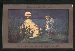 Künstler-AK S. Barham: The Dance with the Lake King`s Daughter