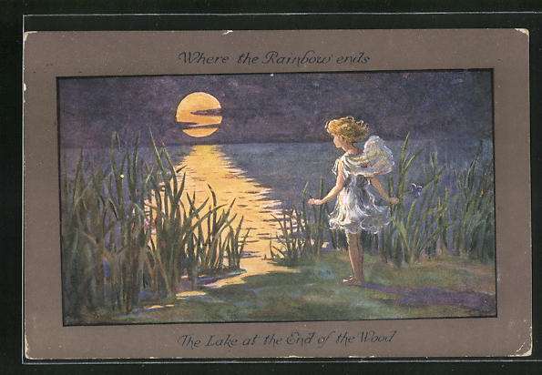 Künstler-AK S. Barham: The Lake at the End of the Wood 0