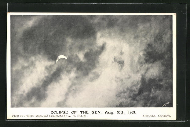 AK Eclipse of the Sun, Sonnenfinsternis 1905 0