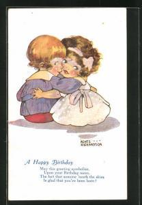 Künstler-AK Agnes Richardson: A Happy Birthday, Kleines Paar Arm in Arm