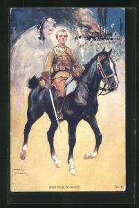 Künstler-AK Lawson Wood: Mother o`Mine, Kavallerist denkt an seine Mutter