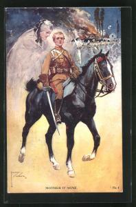 Künstler-AK Lawson Wood: Mother o`Mine, Junger Kavallerist denkt an seine Mutter